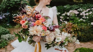 Photo of Wedding Flower Ideas- Mixing Colours And Types