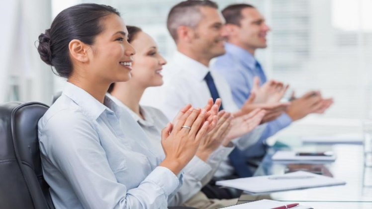 Employees happy in their workplace